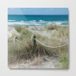 Seaside beach ropes Metal Print