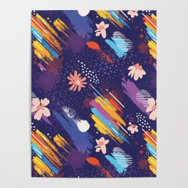 Abstract Free Art Expression Poster
