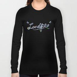 Landfill text blue Long Sleeve T-shirt