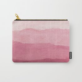 Ombre Waves in Pink Carry-All Pouch