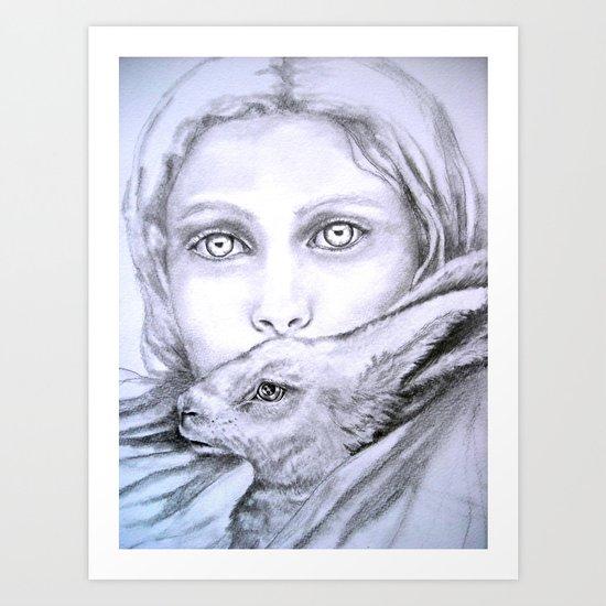 Velveteen rabbit Art Print