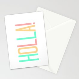 Pastel Pretty Word Art / HOLLA! / Urban Slang Stationery Cards