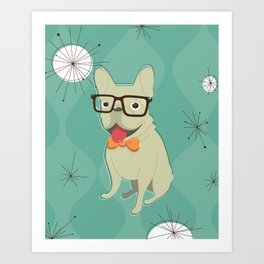 Frank the Frenchie Art Print