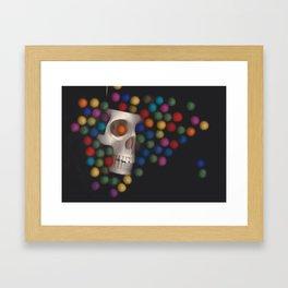 Skull and felt 2 Framed Art Print