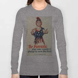 Vintage poster - Be a Ship's Officer Long Sleeve T-shirt