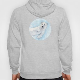 Polar bear underwater Hoody