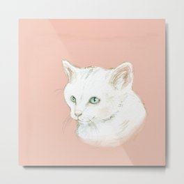 Cutie Catty Metal Print