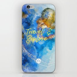Travel and explore iPhone Skin