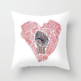 Untitled (Heart Fist) Throw Pillow