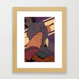 Beowulf and Grendel Framed Art Print