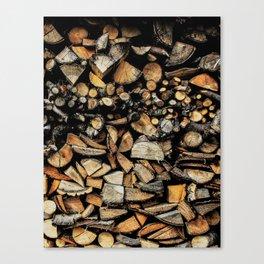 Cool wooden cut piece texture Canvas Print