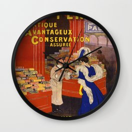 Vintage poster - Biscuits Pernot Wall Clock