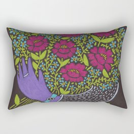 I Picked You These Flowers Rectangular Pillow