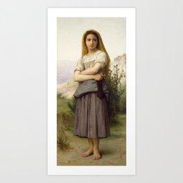 "William-Adolphe Bouguereau ""Young girl"" Art Print"