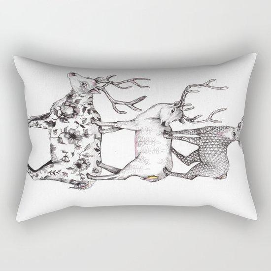 A pile of stags Rectangular Pillow