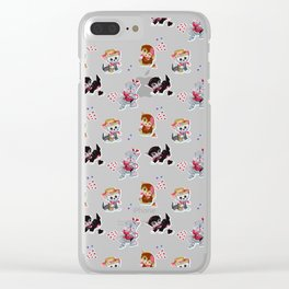 Zombie Cats Clear iPhone Case