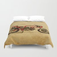 ducati Duvet Covers featuring Ducati 750SS Corsa 1974 by Larsson Stevensem