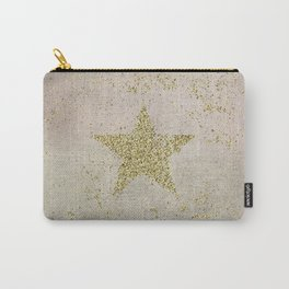 Sparkling Glamorous Golden Star Carry-All Pouch