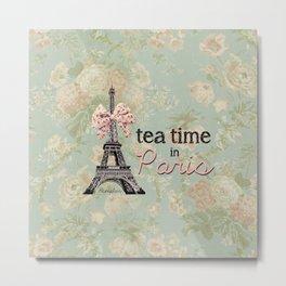 Tea Time in Paris Metal Print