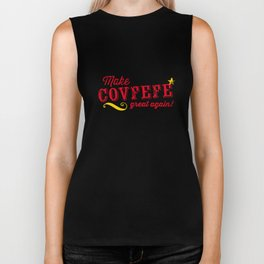 Make COVFEFE great again! Biker Tank
