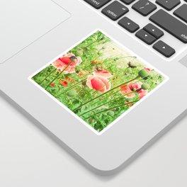 Vintage Poppies Sticker