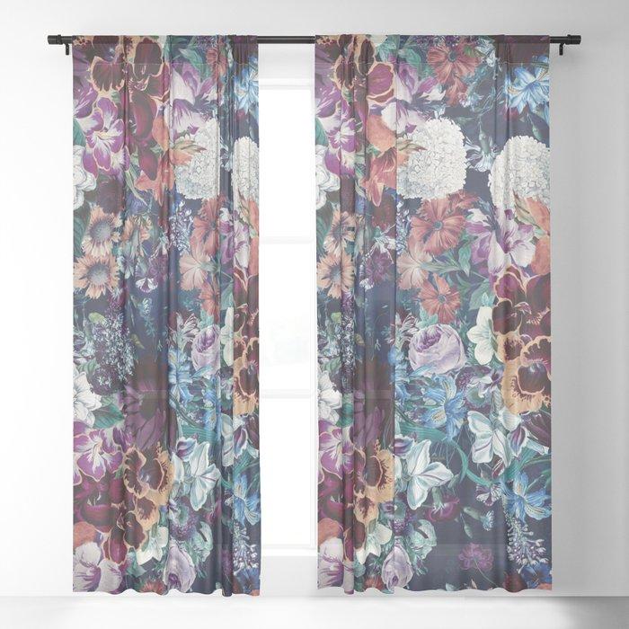 EXOTIC GARDEN - NIGHT XVI Sheer Curtain