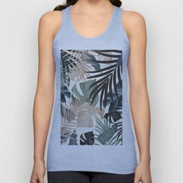 Tropical Jungle Leaves Pattern #13 (Fall Colors) #tropical #decor #art #society6 Unisex Tank Top
