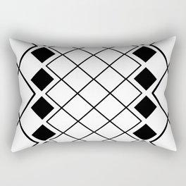 Black and white nordic geometric diamond pattern Rectangular Pillow