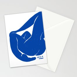 Whispering Nude in Matisse Blue Stationery Cards