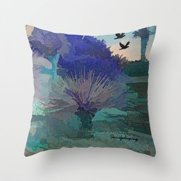 Got The Blues In The Desert  Throw Pillow