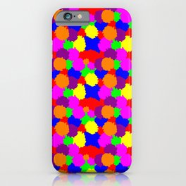 Colourful Splodges iPhone Case