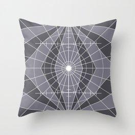 Monochrome Minimalist Geometric Lines Design Throw Pillow