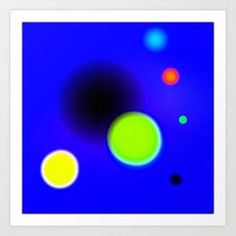 Planets Near The Black Hole Art Print