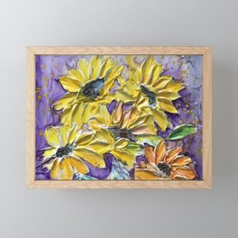 yellow and purple  Framed Mini Art Print