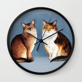 Cute Cats Drawing Wall Clock