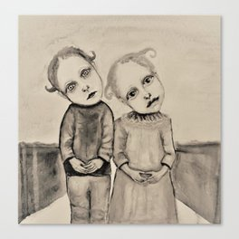 strange kids Canvas Print