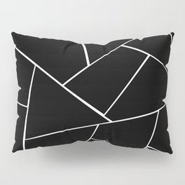 Black White Geometric Glam #2 #geo #decor #art #society6 Pillow Sham