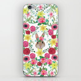Easter rabbit floral beauty iPhone Skin
