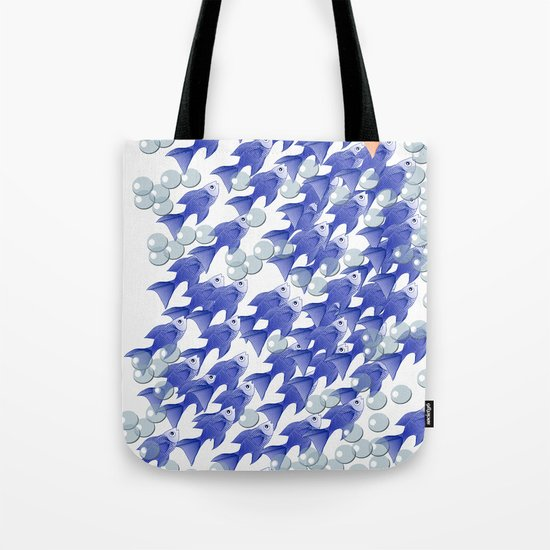 100 fishes Tote Bag