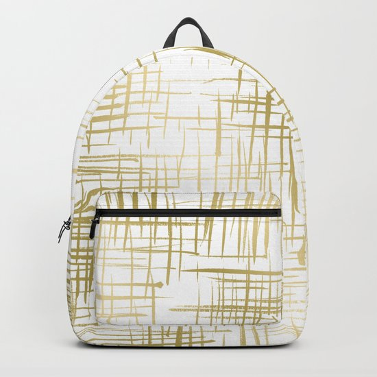 Crosshatch Gold Backpack
