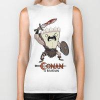 conan Biker Tanks featuring Conan The Bavarian by Bobby Baxter