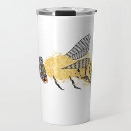 Abstract Bee Travel Mug