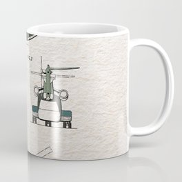 Helicopter patent color Coffee Mug