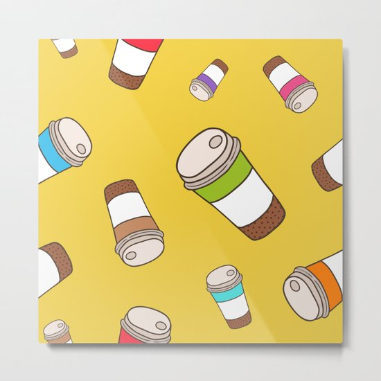 Coffee pattern Metal Print