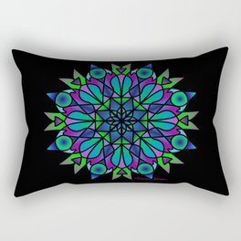 Ombre Cool Mandala Rectangular Pillow