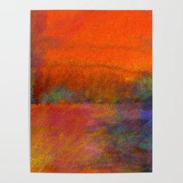 Orange Study #1 Digital Painting Poster