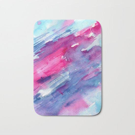 Melting colors || watercolors Bath Mat