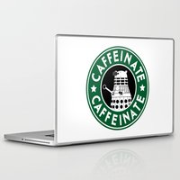 dalek Laptop & iPad Skins featuring Dalek Caffeinate by ThePhantomMoon