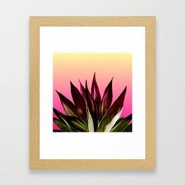 Bold Sunset Agave Fringe Illustration Framed Art Print