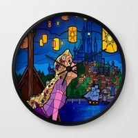 lanterns Wall Clocks featuring LANTERNS by Chris Thompson, ThompsonArts.com